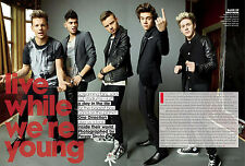 One Direction 13pg + cover TEEN VOGUE magazine feature, clippings