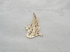 """ # 1 NANA "" Diamond Cut 14k Solid Yellow Gold Charm or Pendant #1 Grandma N43-S"
