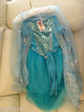 Disney Store Frozen Princess Elsa Fancy Dress Costume Ages 7-8 NEW **LOOK**
