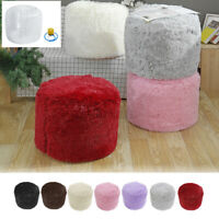 Round Foot Rest Stool Seat Cover Living Room Beanbag Ottoman Pouffe  *