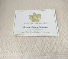 "Court of Versailles * Luxury Chevron * Cotton Blanket * Natural * 72""X96"""