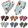 Men's High Quality Tie Handkerchief Floral Paisley Pocket Square Necktie Set