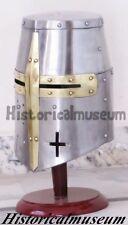 Medieval Knights Armor Crusader Templar Sugarloaf fightr Helmet Handmade D4E7A6