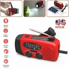 3 in 1 Emergency Solar Hand Crank Outdoor AM/FM/WB Radio LED Flashlight Charger