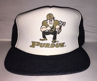Vtg Purdue Boilermakers Trucker hat cap MADE IN USA 80s NCAA college basketball