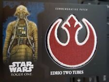 Rogue One Mission Briefing 9 Edrio Two Tubes Rebel PATCH Relic #d 077/100
