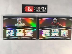 DAN MARINO LARRY FITGERALD 2010 TOPPS TRIPLE THREADS GAME USED #D /27 PITTSBURGH