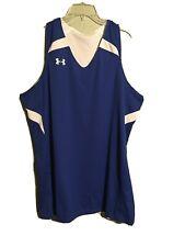New Under Armour Blue:White Reversable Athletic Shirt Sz L