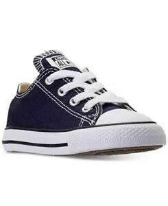 Converse CTAS Ox 757657F Color Midnight Indigo Canvas Laces Toddler Size 7 New