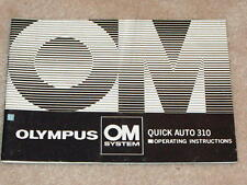 OLYMPUS OM QUICK AUTO 310 FLASH OPERATING INSTRUCTIONS MANUAL