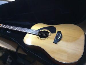 Jas Handmade Acoustic Guitar w/ Pro Kinsman Hard Case (+ Pack of Elixir Strings)