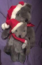 "TWO   EARLY  "" RUSS"" CHRISTMAS TEDDY BEARS, MATCHING, RARE, RETIRED (#B77-30)"