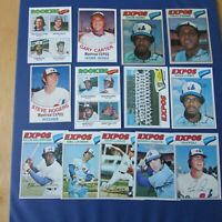 MONTREAL EXPOS 1977 COLLECTION (44 items different) Gary Carter Andre Dawson ODD