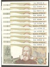 1x 2.000 GALILEO FDS ASSOLUTO 22/10/1976 UNC 2000 lire Italy GALILEI consecutive