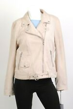 UGG Stacey Suede Leather Moto Jacket in Seashell Pink Womens L *NEW* $595