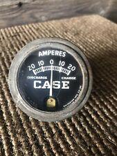 Vintage Case Tractor Ammeter Gauge Amperes Amp Gauge Case Tractor