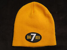 NFL Pittsburgh Steelers Big Ben #7 Yellow Beanie Knit Cap Hat  Young Adult