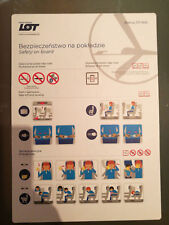 LOT Polish Airlines Boeing 737-800 new safety card v2