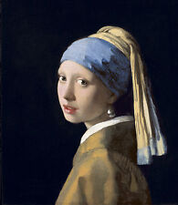 Jan Vermeer Girl with a Pearl Earring Fine Art Canvas Print size 20'' x 24''