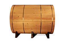 NEW 8' Ft Canadian PINE Wood Barrel Sauna WET / DRY SPA  6 Person Size!  Outdoor