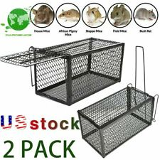 2Pack Rat Trap Cage Small Animal Pest Rodent Mouse Control Catch Hunting Trap