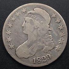 Estados unidos 1829 capped Bust half dólares 50 centavos filadelfia plata raramente 1817