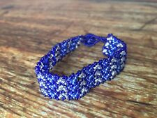 "Blue Bracelet 6.5"" Cape Town Handmade South African Hand Beaded"