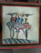 BOULANGER G RODO HOLIDAY ON WHEELS 1976  Signed & Framed