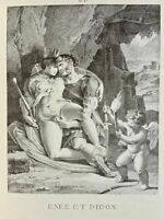 Carracci Erotik Penis Akt Vagina Enée Didon Antike Mythology Love Lithography