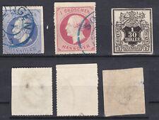 Allemagne Deutschland Hanovre lot de 3 val  de 1851-64