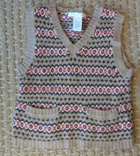 JANIE AND JACK LAYETTE BOY Fair Isle Knit Wool Blend Holiday Sweater Vest 18-24M