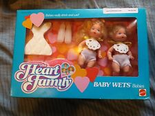 RARE VINTAGE MATTEL LOT THE HEART FAMILY BABY WETS BABIES MIB NRFB BARBIE KELLY
