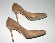 Jimmy Choo Metallic Gold classic leather pump w/ stiletto heel - Size 39 w/ box