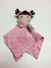 Garanimals Pink Baby Doll Lovey Security Blanket My Best Friend Brown Hair Dots