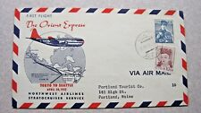 First Flight Cover; The Orient Express.  Tokyo to Seattle April 30, 1952
