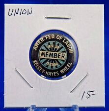 Amer. Fed. of Labor Local 18677 Kelsey Hayes Wheel Union Pin Pinback Button 7/8""
