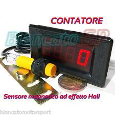 CONTATORE DIGITALE LED 0-9999 NPN PNP da pannello 12V DC sensore prossimità reed
