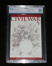 2006 CIVIL WAR # 1 TURNER SKETCH VARIANT (NM+) 9.6 CBCS GRADED CAPTAIN AMERICA