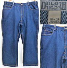 Duluth Trading Men's Jeans Pants Size 44 x 29.5 Flat Front 100% Cotton Blue