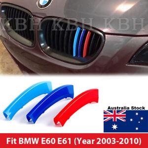 M Color Kidney Grille Grill Cover Clip Trim for BMW 5 Series E60 E61 2004-2010
