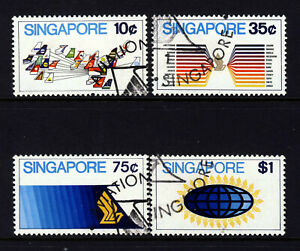 SINGAPORE 1973 Complete Aviation Set SG 197 to SG 200 VFU