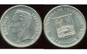 VENEZUELA  50 centimos  1965  ( etat )