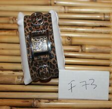 GUESS ANIMAL PRINT CUFF BAND WATCH-NICE F73