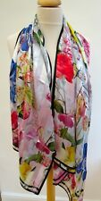 NEW!! Ted Baker Rozani Silk Encyclo Print long scarf - STUNNING! slight second