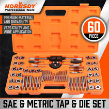 60 Pcs Master Tap and Die Set Coarse and Fine Threads Tools SAE Inch / Metric MM