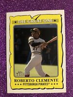 Roberto Clemente 2021 Topps Heritage Insert The Great One GO-14   Pittsburgh