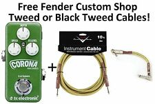 New TC Electronic Corona Mini Chorus Guitar Effects Pedal! Fender Cables!