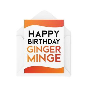 Funny Birthday Cards   Ginger M*nge Card   Wife Girlfriend Redhead Joke   CBH67