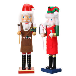 38CM  Large Painted Christmas Holiday Nutcracker Soldier Wooden Xmas Gifts