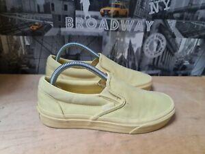 Vans Classic Yellow Slip On Trainers Size UK 5.5 EU 38.5
